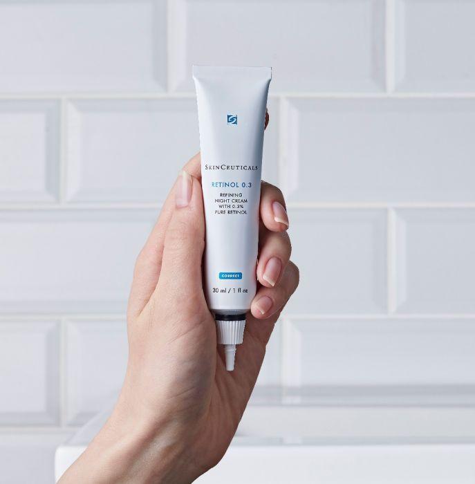 retinol 0.3 product in hand