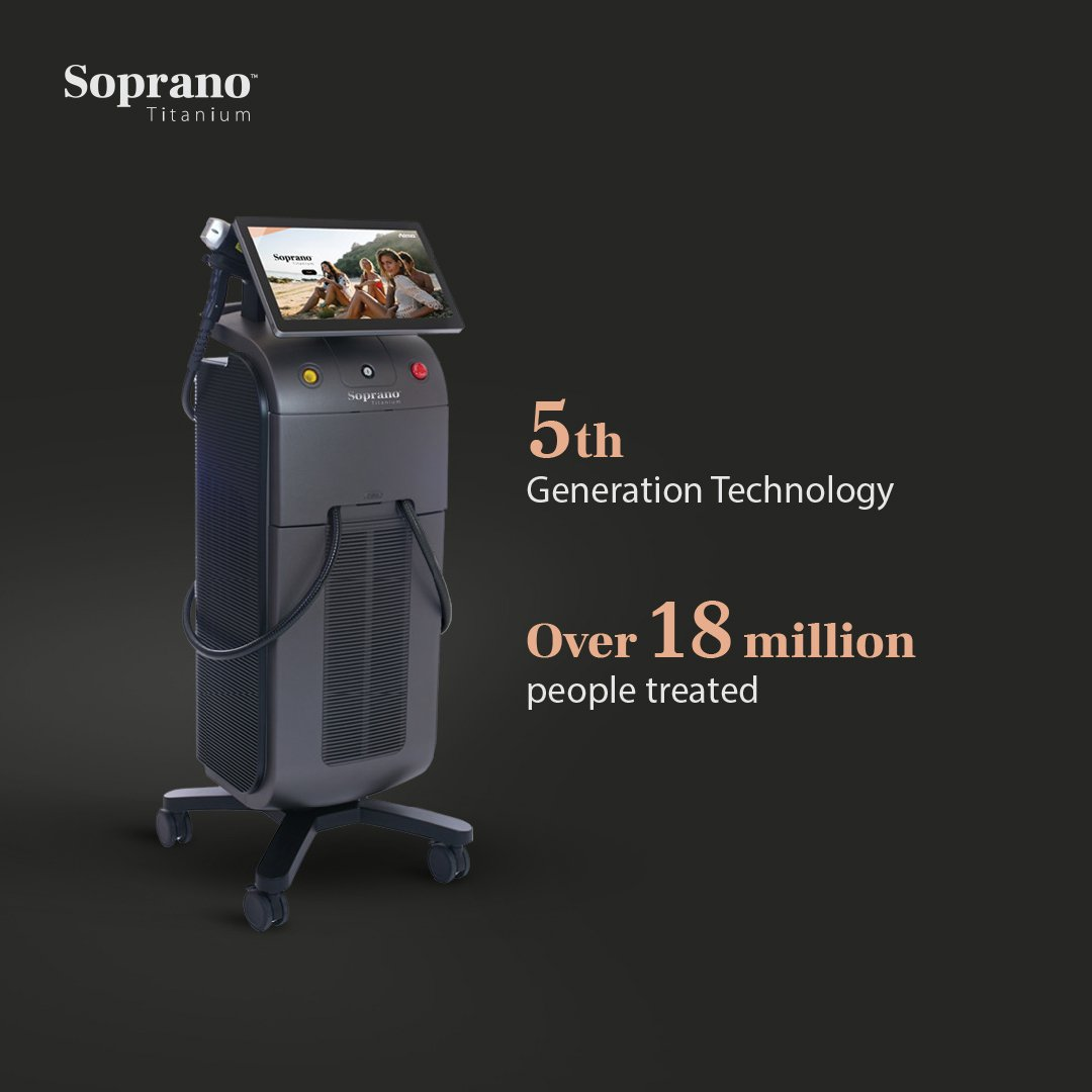 Introducing the worlds most advanced laser hair removal system: Soprano Titanium